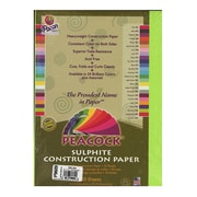 Pacon Peacock Construction Paper Hot Lime 9 In. X 12 In. [Pack Of 4] (4PK-P9609)