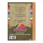 Pacon Peacock Construction Paper Light Brown 9 In. X 12 In. [Pack Of 6] (6PK-P6909)