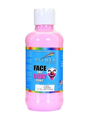 Palmer Face Paint Pink 8 Oz. [Pack Of 4] (4PK-185208)