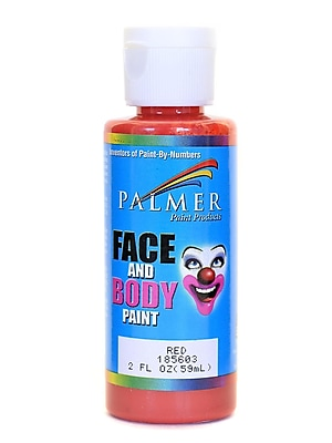 Palmer Face Paint Red 2 Oz. [Pack Of 12] (12PK-185603)