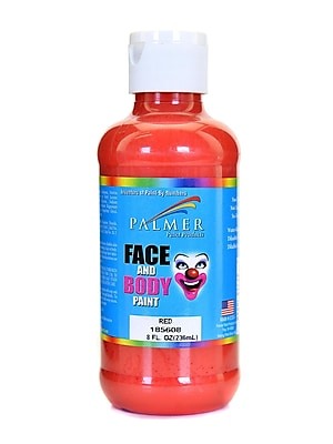 Palmer Face Paint Red 8 Oz. [Pack Of 4] (4PK-185608)