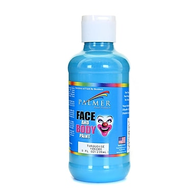 Palmer Face Paint Turquoise 8 Oz. [Pack Of 4] (4PK-186208)