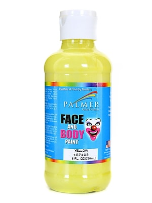 Palmer Face Paint Yellow 8 Oz. [Pack Of 4] (4PK-187408)