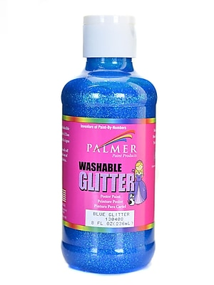 Palmer Washable Glitter Poster Paint Blue Glitter [Pack Of 6] (6PK-130408)