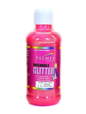 Palmer Washable Glitter Poster Paint Pink Glitter [Pack Of 6] (6PK-135208)