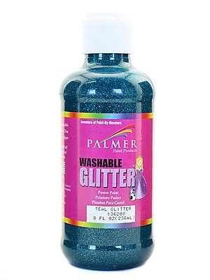 Palmer Washable Glitter Poster Paint Teal Glitter [Pack Of 6] (6PK-136208)