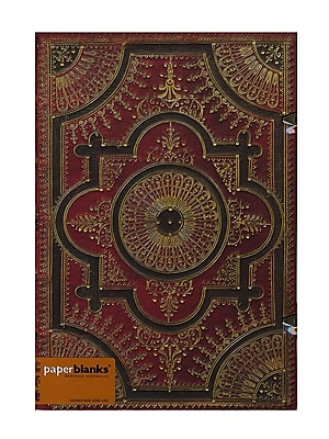 Paperblanks Baroque Ventaglio Journals Rosso Grande, 8 1/4 In. X 11 3/4 In. 240 Pages, Unlined (9781439716779)