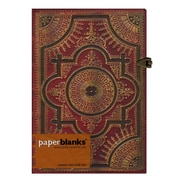 Paperblanks Baroque Ventaglio Journals Rosso Midi, 5 In. X 7 In. 240 Pages, Unlined (9781439716809)