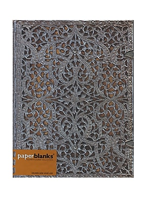 Paperblanks Silver Filigree Journals Natural Ultra, 7 In. X 9 In. 240 Pages, Unlined (9781439719282)
