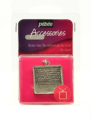 Pebeo Metal Jewelry Findings Square Pendant [Pack Of 3] (3PK-166807)