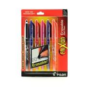 Pilot Frixion Ball Erasable Gel Pens Black, Blue, Red, Pink, Purple, Orange Set Of 6 0.7 Mm [Pack Of 2] (2PK-FX7C6001)