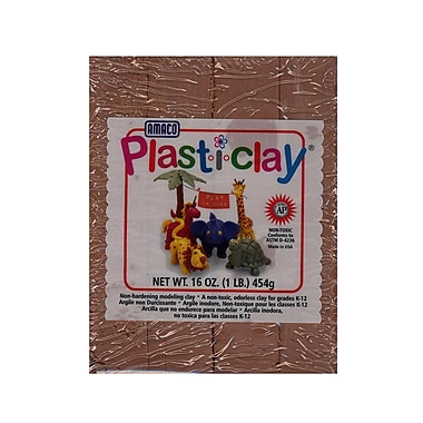 Plast-I-Clay Modeling Clay Brown [Pack Of 4] (4PK-91124S)