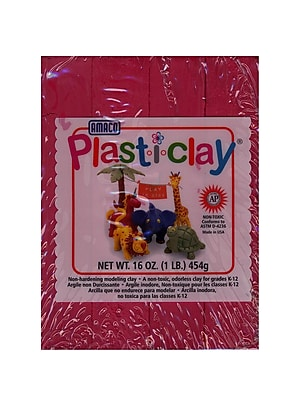 Plast-I-Clay Modeling Clay Red [Pack Of 4] (4PK-91121P)