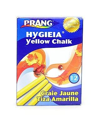 Prang Hygieia Dustless Board Chalk Yellow [Pack Of 12] (12PK-31344)