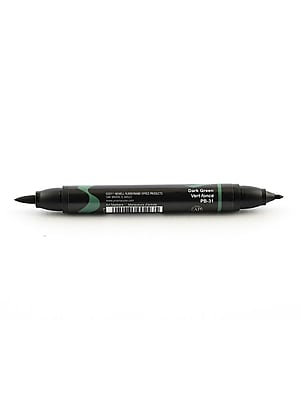 Prismacolor Premier Double-Ended Brush Tip Markers Dark Green 031 [Pack Of 6] (6PK-1773230)
