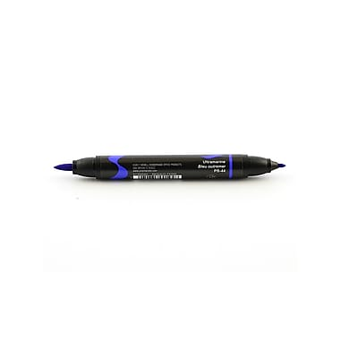 Prismacolor Premier Double-Ended Brush Tip Markers Ultramarine 044 [Pack Of 6] (6PK-1773202)