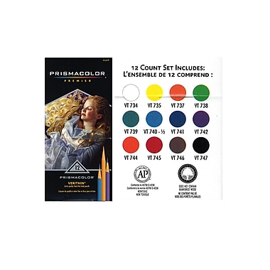 Prismacolor Verithin Colored Pencil Sets Set Of 12 [Pack Of 2] (2PK-2476)