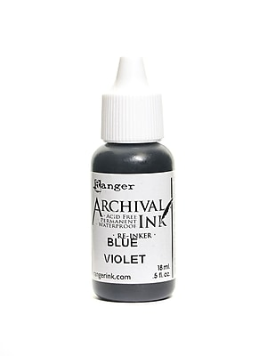 Ranger Archival Ink Blue Violet 1/2 Oz. Bottle [Pack Of 6] (6PK-ARR30874)