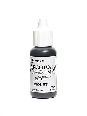 Ranger Archival Ink Blue Violet 1/2 Oz. Bottle [Pack Of 6] (6PK-ARR30874)