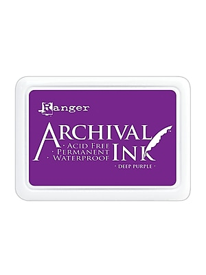 Ranger Archival Ink Deep Purple 2 1/2 In. X 3 3/4 In. Pad [Pack Of 3] (3PK-AIP30430)