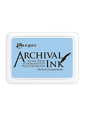 Ranger Archival Ink French Ultramarine 2 1/2 In. X 3 3/4 In. Pad [Pack Of 3] (3PK-AIP30607)