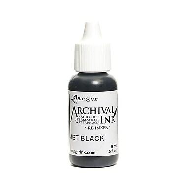 Ranger Archival Ink Jet Black 1/2 Oz. Bottle [Pack Of 6] (6PK-ARR30799)