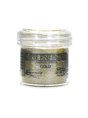 Ranger Basics Embossing Powder Super Fine Gold 1 Oz. Jar [Pack Of 4] (4PK-EPJ37408) 2130422