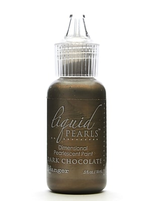 Ranger Liquid Pearls Pearlescent Paint Dark Chocolate 1/2 Oz. [Pack Of 8] (8PK-LPL28123)