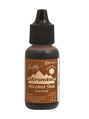 Ranger Tim Holtz Adirondack Alcohol Inks Caramel Earthtones 0.5 Oz. Bottle [Pack Of 6] (6PK-TIM21971)
