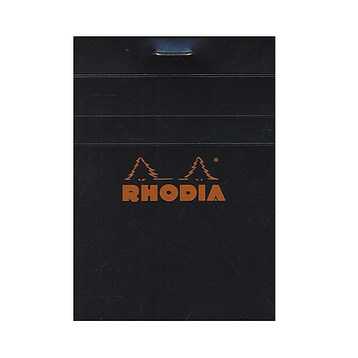 Rhodia Classic French Paper Pads Graph 3 In. X 4 In. Black [Pack Of 12] (12PK-112009)