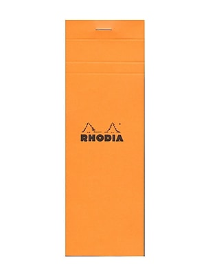 Rhodia Classic French Paper Pads Graph 3 In. X 8 1/4 In. Orange [Pack Of 8] (8PK-8200)