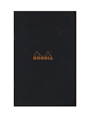 Rhodia Classic French Paper Pads Ruled 3 In. X 4 In. Black [Pack Of 12] (12PK-116009)