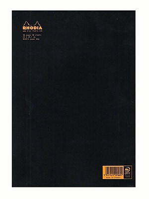 Rhodia Staplebound Notebooks Ruled, Black Cover 8 1/4 In. X 11 3/4 In. 48 Sheets [Pack Of 5] (5PK-119169)