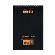 Rhodia Wirebound Notebooks Ruled 6 In. X 8 1/4 In. Black [Pack Of 5] (5PK-165019)