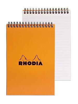 Rhodia Wirebound Notebooks Ruled 6 In. X 8 1/4 In. Orange [Pack Of 5] (5PK-16501)