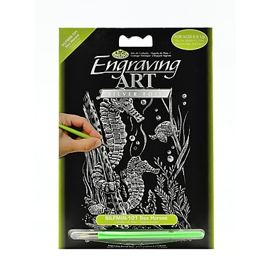 Royal And Langnickel Mini Engraving Art Kits Sea Horses Silver [Pack Of 6] (6PK-SILMIN-101)