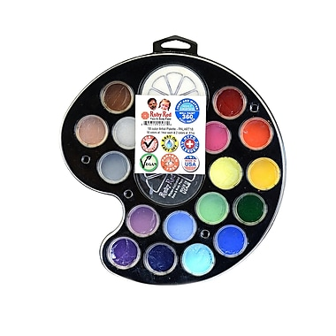 Ruby Red Face And Body Paint Artist Palette Set Of 18 (PALART18)