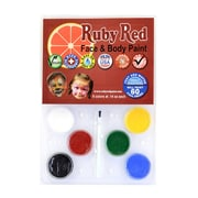 Ruby Red Face  And  Body Paint Six Color Clam Pack Of 6 (PALCLAM)