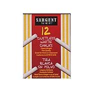 Sargent Art Dustless Chalks White [Pack Of 12] (12PK-66-2012)