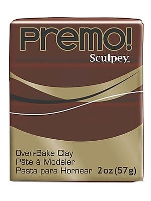 Sculpey Premo Premium Polymer Clay Burnt Umber 2 Oz. [Pack Of 5] (5PK-PE02-5053)
