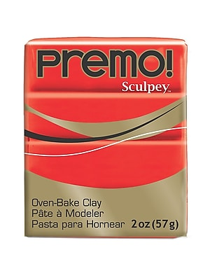 Sculpey Premo Premium Polymer Clay Cadmium Red Hue 2 Oz. [Pack Of 5] (5PK-PE02-5382)