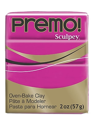 Sculpey Premo Premium Polymer Clay Fuchsia 2 Oz. [Pack Of 5] (5PK-PE02-5504)