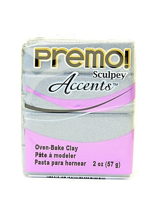 Sculpey Premo Premium Polymer Clay Silver 2 Oz. [Pack Of 5] (5PK-PE02-5129)