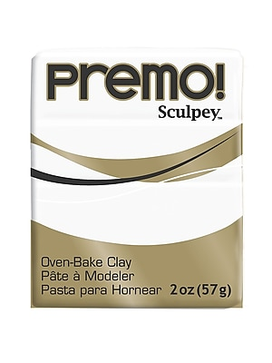 Sculpey Premo Premium Polymer Clay White 2 Oz. [Pack Of 5] (5PK-PE02-5001)