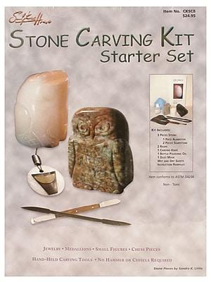 Sculpture House Stone Carving Kit - Starter Set Kit (CKSC8)