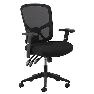 Essentials by OFM 3-Paddle Ergonomic Mesh High-Back Task Chair with Arms and Lumbar Support, Black, (ESS-3050)