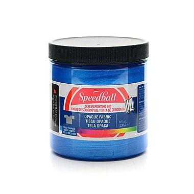 Speedball Opaque Fabric Screen Printing Inks Blue Topaz 8 Oz. [Pack Of 2] (2PK-4802)