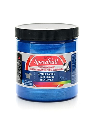 Speedball Opaque Fabric Screen Printing Inks Blue Topaz 8 Oz. [Pack Of 2] (2PK-4802)