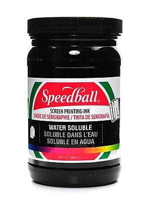 Speedball Water Soluble Screen Printing Ink Black 32 Oz. (4580)