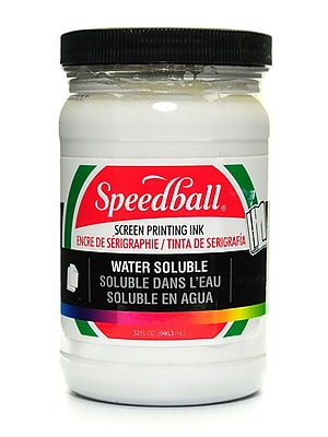 Speedball Water Soluble Screen Printing Ink White 32 Oz. (4583)
